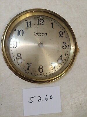 Ingraham Tambour Mantle Clock Dial And Bezel With Glass