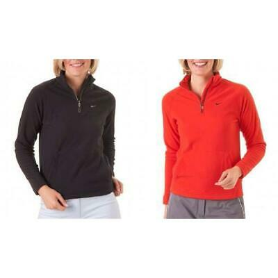 Nike Golf Therma-Fit Kids Fleece Sweater + Black & Red