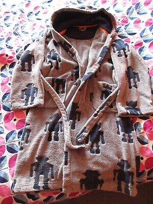 Debenhams Blue Zoo Snuggly Robot Dressing Gown age 11-12