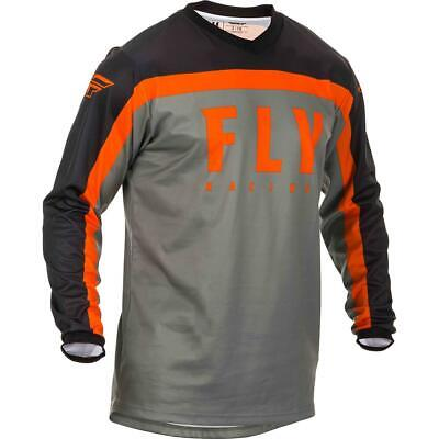 Fly Racing Kids Jersey F-16 Grau/Schwarz/Orange