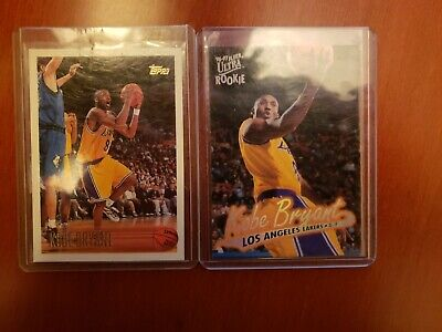 1996 Topps Kobe Bryant #138 Basketball Card.  And 96 Fleer Ultra #52 Rookie Card