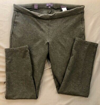 NYDJ Lift & Tuck Womens 16 Pull On Knit Leggings Gray Pants Skinny Stretch