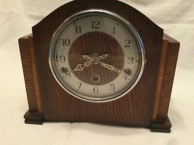 Enfield Westminster chime mantle clock with key.