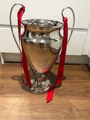 CHAMPIONS LEAGUE TROPHY  Engraved Nickel plated Replica 64cm approx