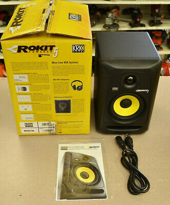 KRK Rokit 5 Gen 3 Powered Studio Monitor. Open-box. Box and cables included.