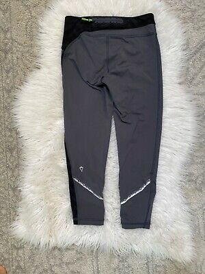 Ivivva Lululemon Girls Size 8 Crop Athletic Leggings Gray Reflective