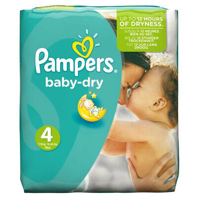 Pampers Couches Baby Dry Taille 4 Maxi Giga 9-14 kg - 132 couches