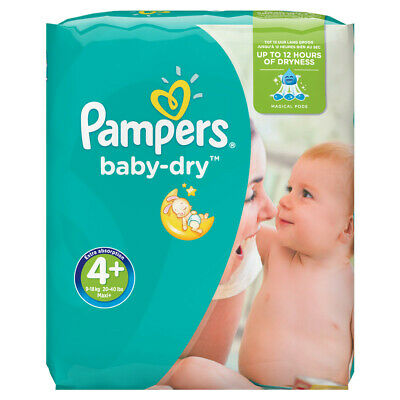 Pampers Couches Baby Dry Taille 4+ Maxi Giga 10-15 kg - 123 couches