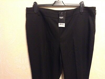 BNWT NEXT  Tailored black bootcut leg office smart work trousers stretch TALL T