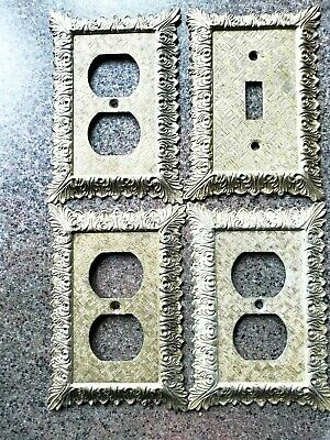 4 Decorative Metal Floral Socket/Light Switch Plate Covers - EDMAR/American Tack