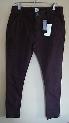 NEW (with tags)! Next Burgundy Brown Skinny Jeans Trousers Age 12 years