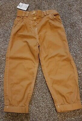 BNWT Lovely Girls Tan Trousers/chinos 2-3 Years From George