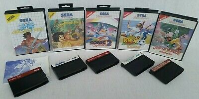 Sega Master System Games Joblot: Golden Axe, Land of Illusion, Sonic 2 & More