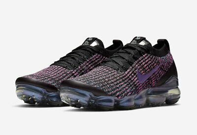 Nike Air Vapormax Flyknit 3 Men's Running Shoes Black /Fuchsia Sz 11 AJ6900-007