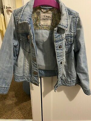 Girls next denim jacket age 2-3 years, Worn