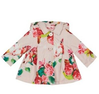 Baker by Ted Baker - Baby girls' pink floral print jacket BNWT