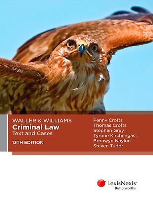 PDF+EPUB: Waller & Williams criminal law: Text and Cases 13th Ed
