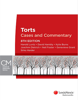 PDF+EPUB: Torts Cases and Commentary 8th Ed, Luntz & Hambly