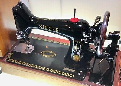 Vintage (1957) Semi Industrial Singer 99K Hand Crank Sewing Machine Working