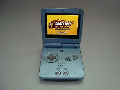 Nintendo Game Boy Advance SP Pearl Blue AGS-101 Tested Works