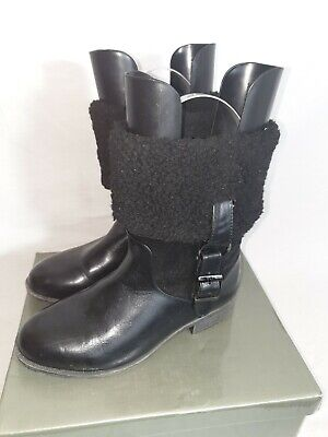Ladies COTTON TRADERS Warm Black Winter Boots Size 4