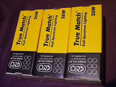 3 Kino Flo 26 Watt Bulb (26S-K55-230) E27 Flourescent Lamp Film Video Photograpy