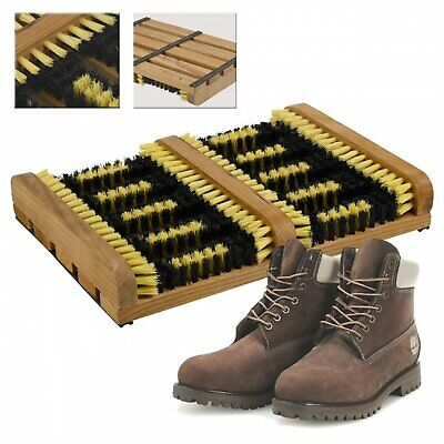 Double Boot Scraper Heavy Duty Shoe Cleaner Brush Outdoor Door Mat Wellington