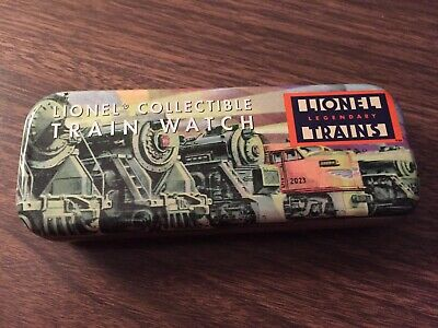 Lionel Collectible Train Watch in Original Tin with Certificate of Authenticy