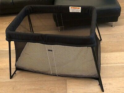 Baby Bjorn Travel Cot - includes travel case, mattress and fitted sheet