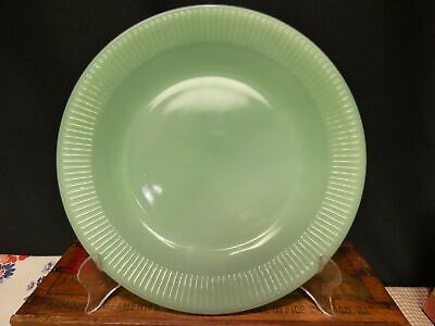 Vintage marked FIRE KING Oven Glass Jadeite Jane Ray 9 inch dinner plate