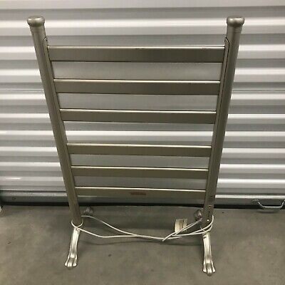 "Warmrails Towel Warmer Drying Rack BE6-S Silver 36"" x 22"" FREE STANDING"