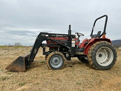 Case 245 Farm Tractor With Loader Diesel Engine 4 Wheel Drive Power Steering