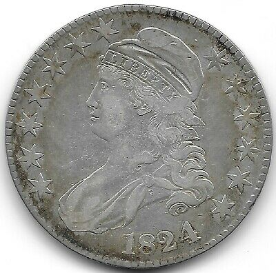 1824 4 Over 1 Capped Bust Half Dollar