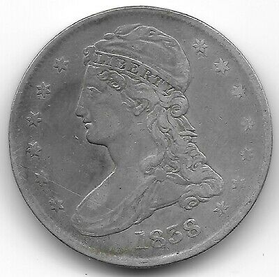 1838 Capped Bust, Reeded Edge Half Dollar