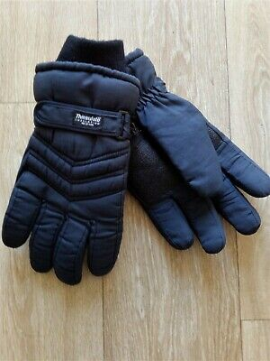 Mens Thinsulate Padded Gloves Winter Warm, Ski, Outdoor Thermal 40 gram Large