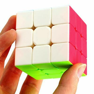Speed Cube 3x3x3 Magic Cube Smooth Fast 3D Puzzle Brain Teaser Kids Fun Gift Toy