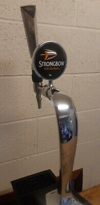 Chrome Strongbow Cider Beer Pump Handle Tap Etc .Complete Working