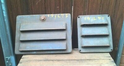 2 x Antique Industrial Cast Iron Air Vent - Vintage Steampunk Grate Grill