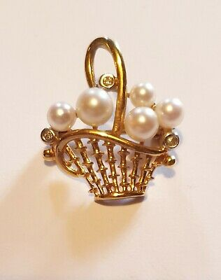 Broche Or 18 Carats et perle - 3,2 grs