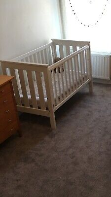 Cot White Wooden Preloved Standard Size Complete