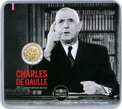 IN STOCK - FRANCE 2 EURO 2020 - Charles de Gaulle - Coincard