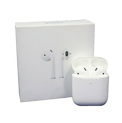 Apple AirPods 2nd Gen Headsets with Wireless Charging Case - White (MRXJ2AM/A)