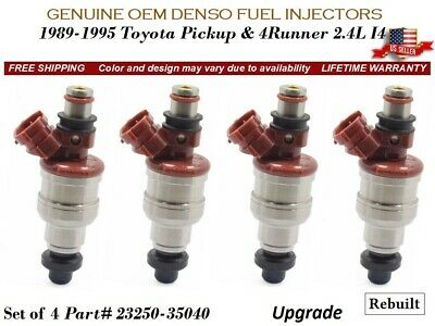 Upgraded High Flow Denso Set Of 4 Fuel Injectors For Toyota Pickup 4Runner 2.4L