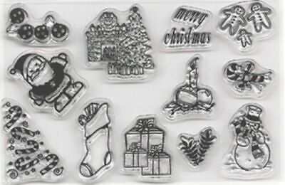 REDUCED  Habico Interchangeable Clear Stamps Christmas 2