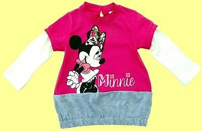 Disney Minnie Mouse Baby Body Weiß Blau Pink Neu Babydress Babybody