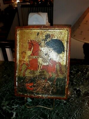Antique Russian Icon Painting on Board