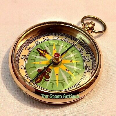 Antique Style Brass Compass Mini Maritime Collectible item