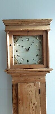 Antique Early 19th Century Pine Longcase / Grandfather Clock