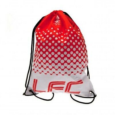 Liverpool FC Gymbag Kids PE Kit Bag Red Swimming Kit Luggage LFC Football