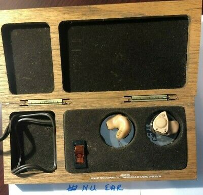 Vintage 1986 Nu Ear Rechargeable hearing aids
